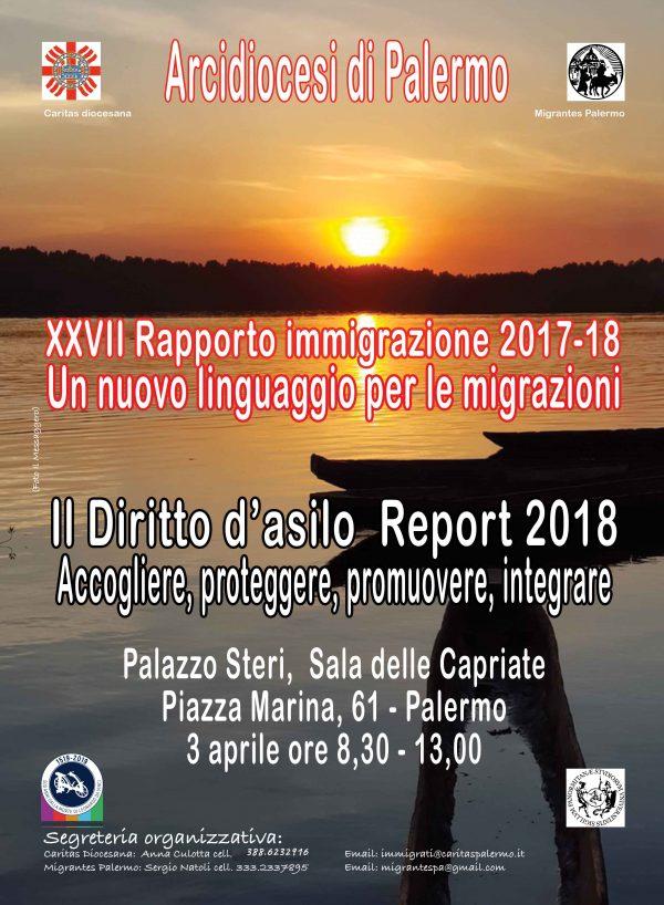 Presentazione a Palermo del XXVII RAPPORTO IMMIGRAZIONE CARITAS E MIGRANTES (RICM) 2017-2018